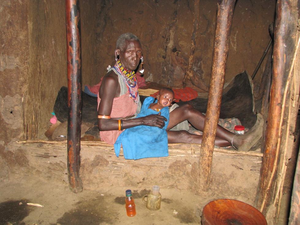 Unutrašnjost Maasai kolibe